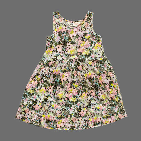 HnM All over Flower and Butterfly Cotton Jersey Dress