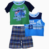 Peanut Buttons Beach Petrol Boys 3 piece suite