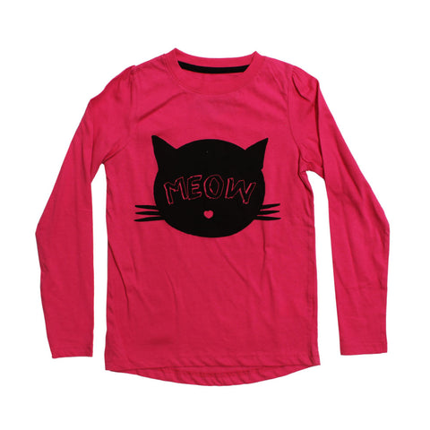 YOUNG DIMENSION Meow Pink Premium Cotton Tshirt