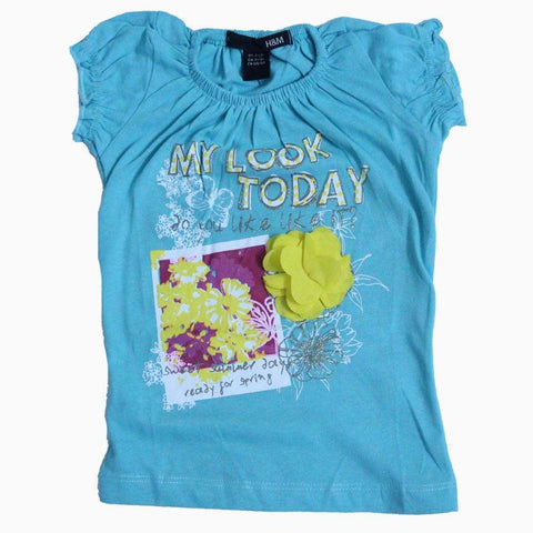 HnM my look today Sky Blue color T-shirt
