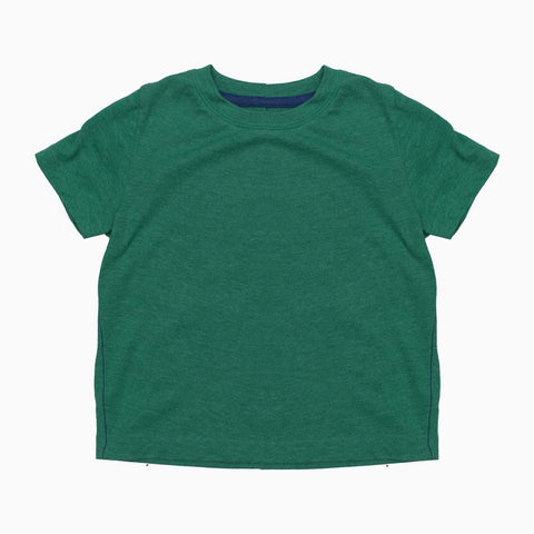 Ultra Soft Boys Green Basic Cotton Tshirt