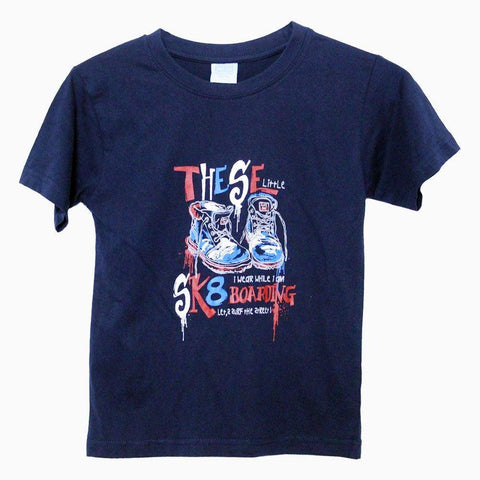 Anna & philip Sk8 boarding navy blue boys tshirt