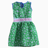 Carters white flower white waistband green Dress