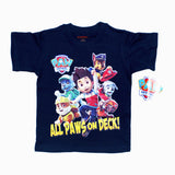 Nickeloedeon All paws on deck boys  blue tshirt