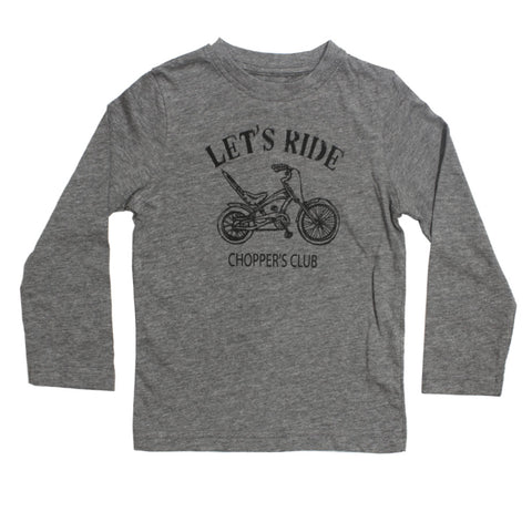 IN  EXTENSO Lets Ride Grey Boys Cotton Tshirt