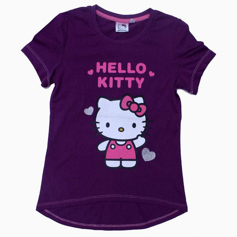 Hello Kitty Purple Girls Tshirt