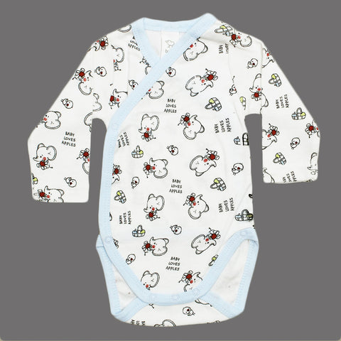 BABY CLUB Love Apples UNisex Wrap Style Cotton Romper