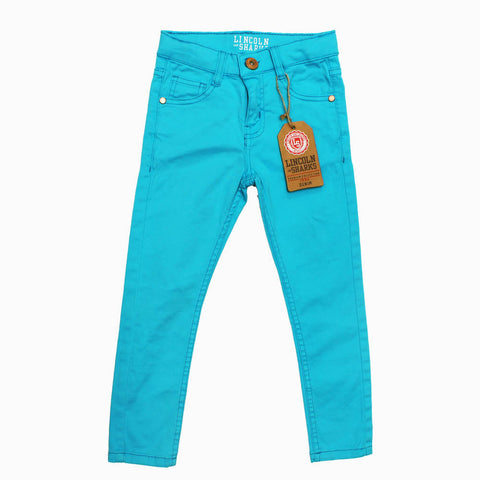 Lincoln Sharks Bright Blue Girls Cotton Pant