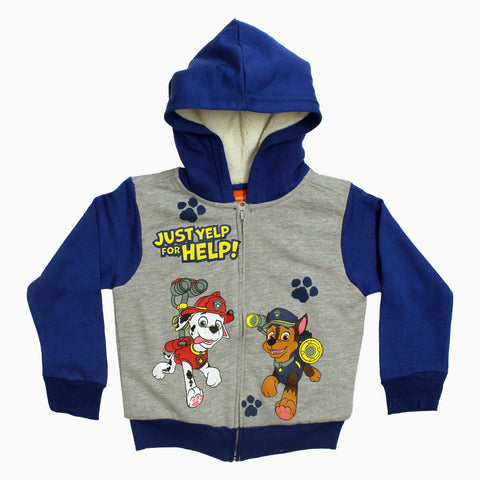 PAW PATROL Boys SHERPA Fleece Premium Zipper Hoodie