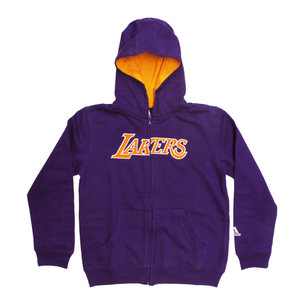 ADIDAS Lakers Embroidery  purple Unisex Hoodies