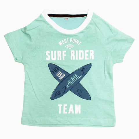 MONOPRIX SURF RIDER Light Blue Boys Cotton tshirt