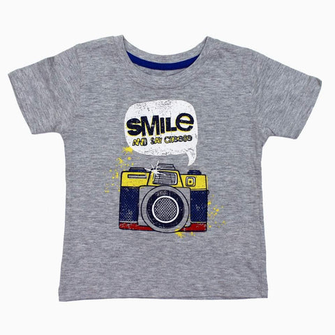 Smile and Say Cheese unisex Heather Grey Thsirt