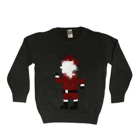 TAPE A LOEIL Santa Fluff Style Grey Premium Heavy Cotton Sweater
