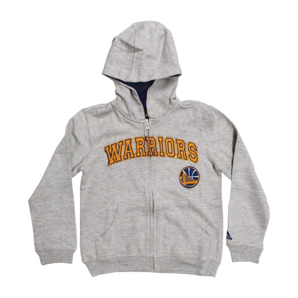 ADIDAS Warriors Embroidery Grey Boys Cotton Hoodies