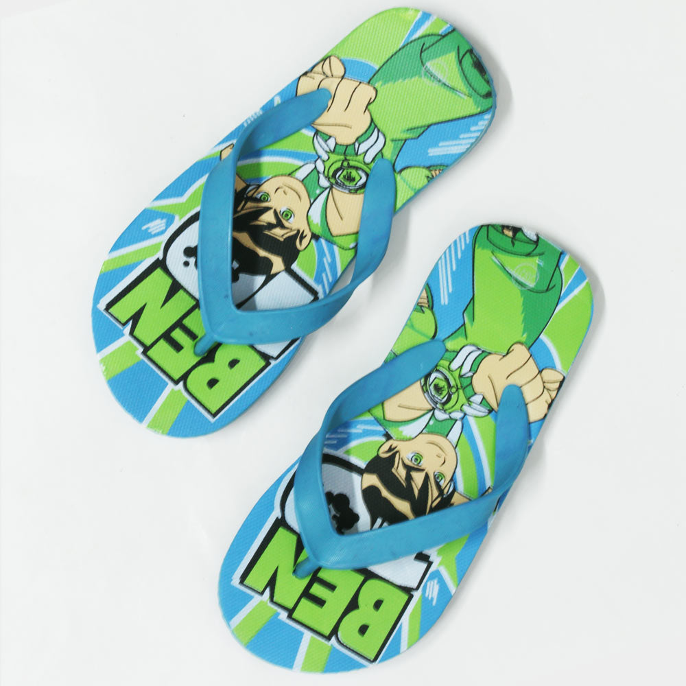 Ben10 Light Blue Rubber Flip Flops