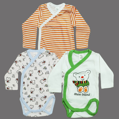 BABY Club Mix Style Boys 3 Piece Cotton Romper Set