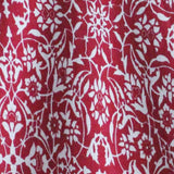 Hnm Red girls dress white abstract pattern
