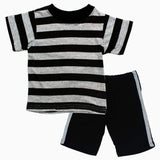 Black and Grey Stripes Basic 2 piece Set