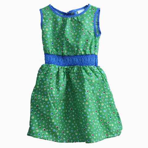 Carters multi colour polka dot blue waistband green Dress