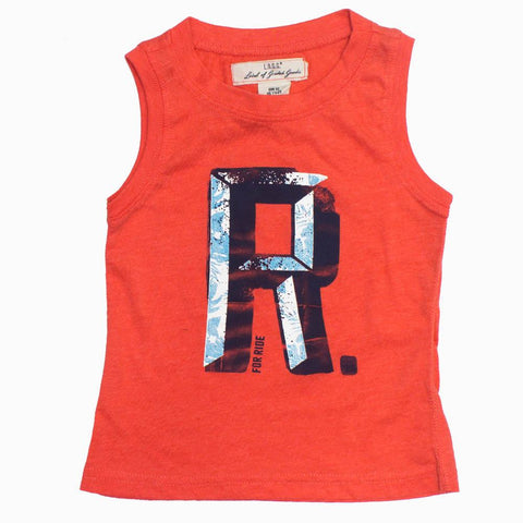 LOGG R for Ride Unisex Cool Orange Ultra Soft Tank Top