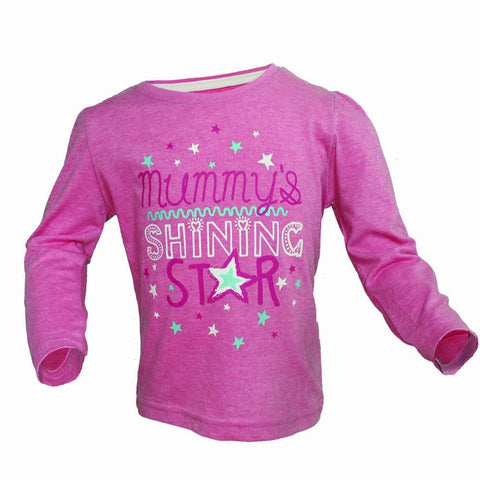 Mummys Shining Star Girls Pink Full sleeves Tshirt