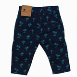 TIMBERLAND All over Palm Tree Printed Blue Girls Cotton Pant Back