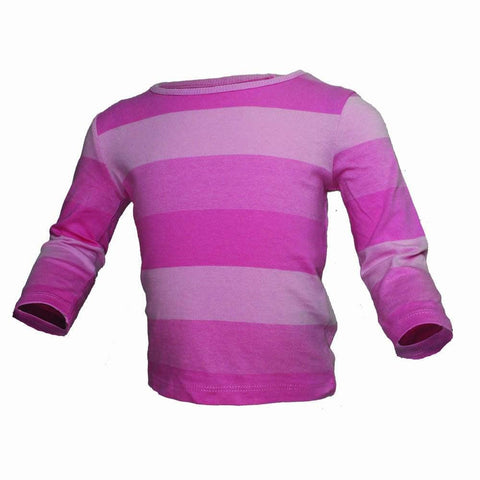 Next girls pink stripes full sleeves Tshirt