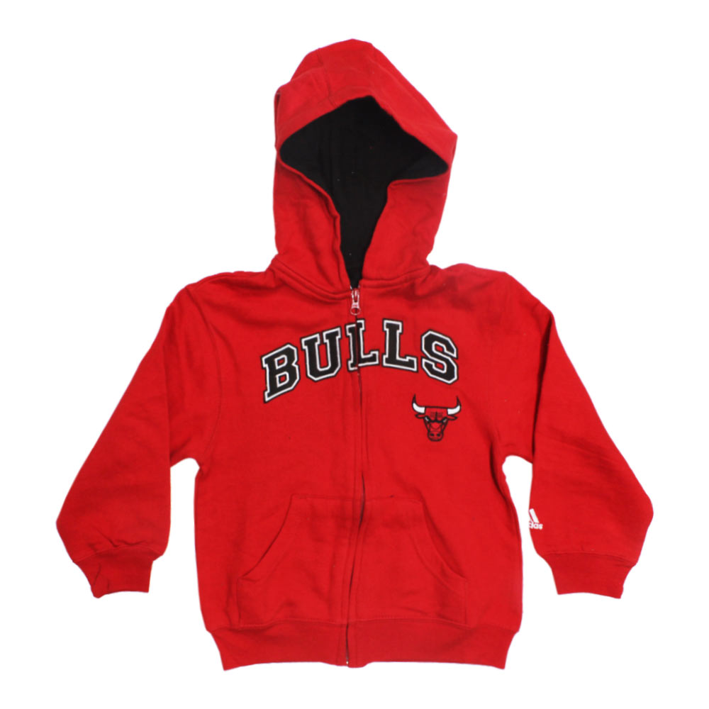 ADIDAS Bull Picture Embroidery Red Boys Cotton Hoodies