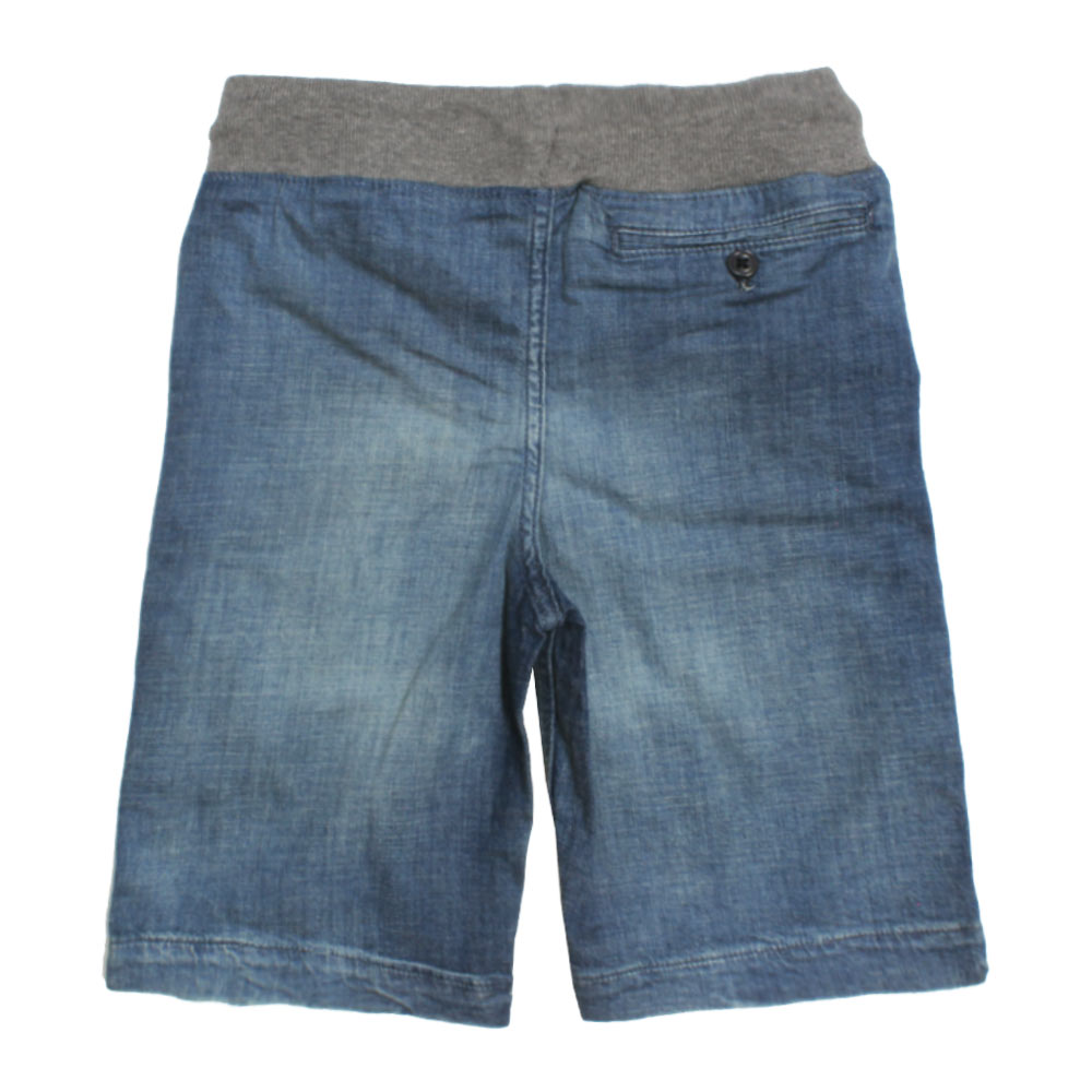 GAP KIDS Sand Washed Adjustable Waistband Blue Boys Denim Short
