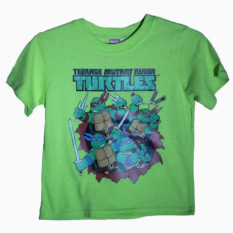 Greenish yellow Vintage TMNT boys tshirt