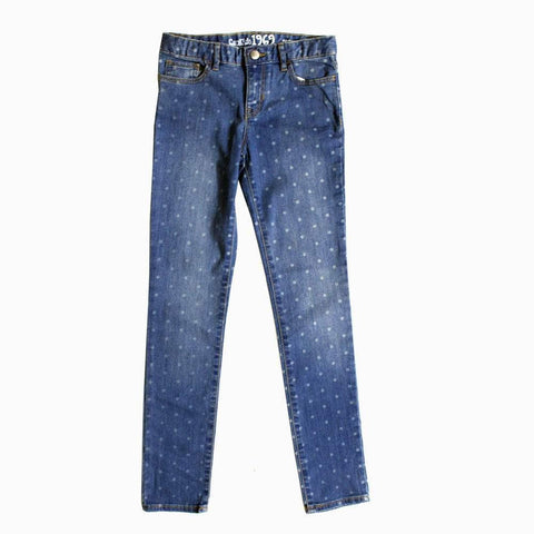 Gap Kids All over Polka Dot Girls Skinny Denim Jeans