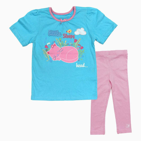 Little Sleepy Head Girls Blue 2 piece Set