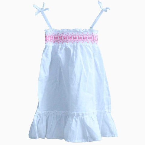 Carters White Shoulder strap Cute Dress