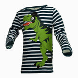 HnM Boys Dragon print Stripes Tshirt