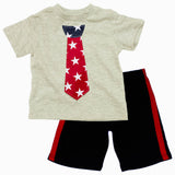 Tie print Boys Light Grey 2 Piece Set