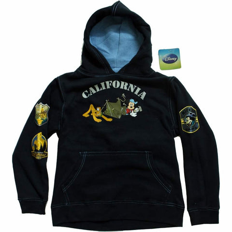 Disney California Mickey Mouse Boys Navy Blue Kangaroo Hoodie