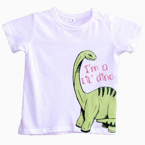 I'm a lil dino white baby t-shirt