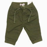 DPAM Woven Cotton Boys Greenish Ribbed Trouser
