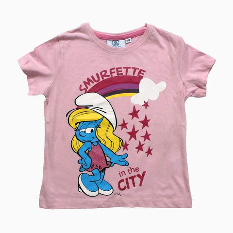 Smurfette in the City Pink Girls Tshirt