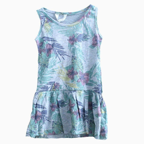 H&M Red leaf Flower Grey Dress