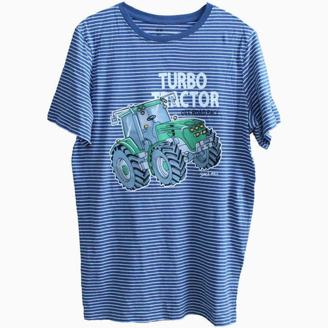 H&M turbo Tractor Blue and white Stripes