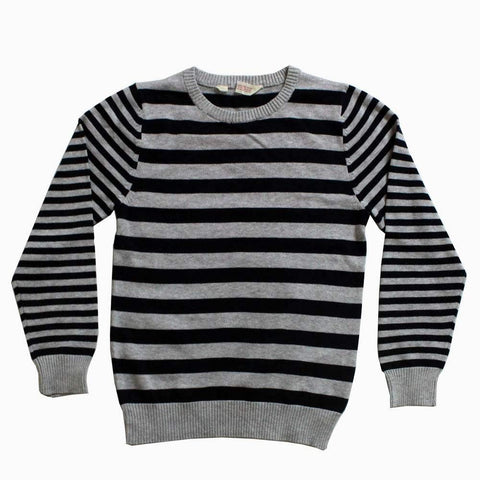 HnM (Cut label) Grey and Blue boys Striper Sweater