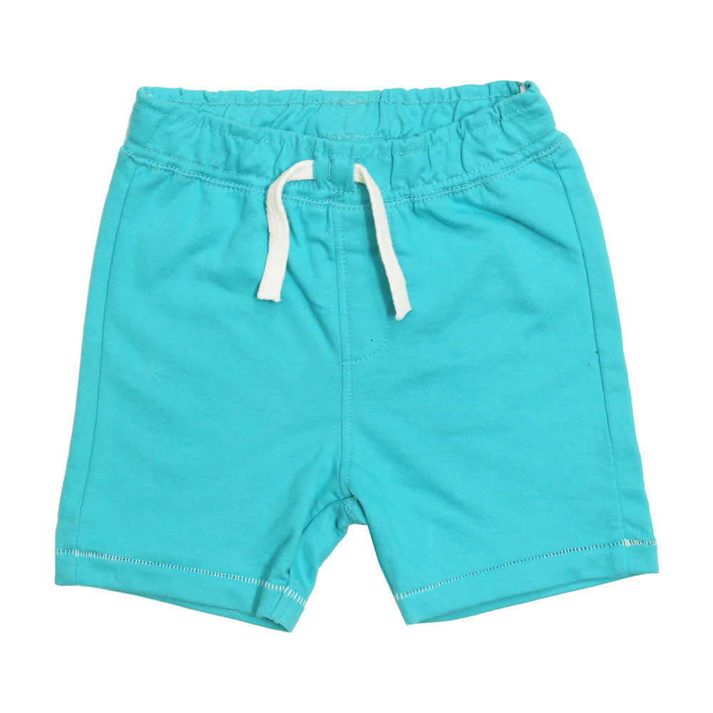 BABY CLUB White Draw String Light Blue Premium Cotton Shorts