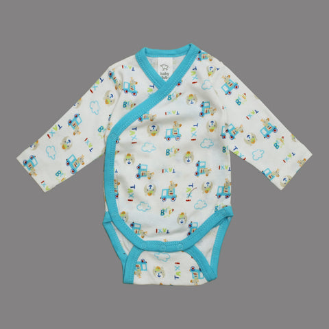 BABY CLUB All over Taxi and Bear Print Premium Cotton Boys Romper