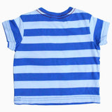 Baby club boys blue and white Stripes vest tshirt