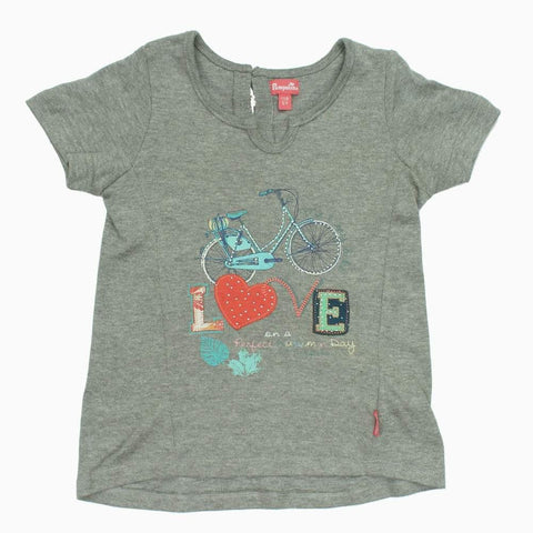 Pampolino Love Applique Girls fancy Cotton Tshirt