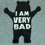KIABI I am very BAD boys heather grey Tshirt