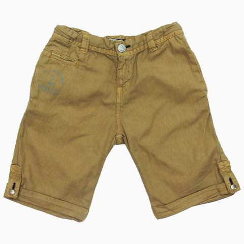 CHICCO Boys Brown Cotton Short