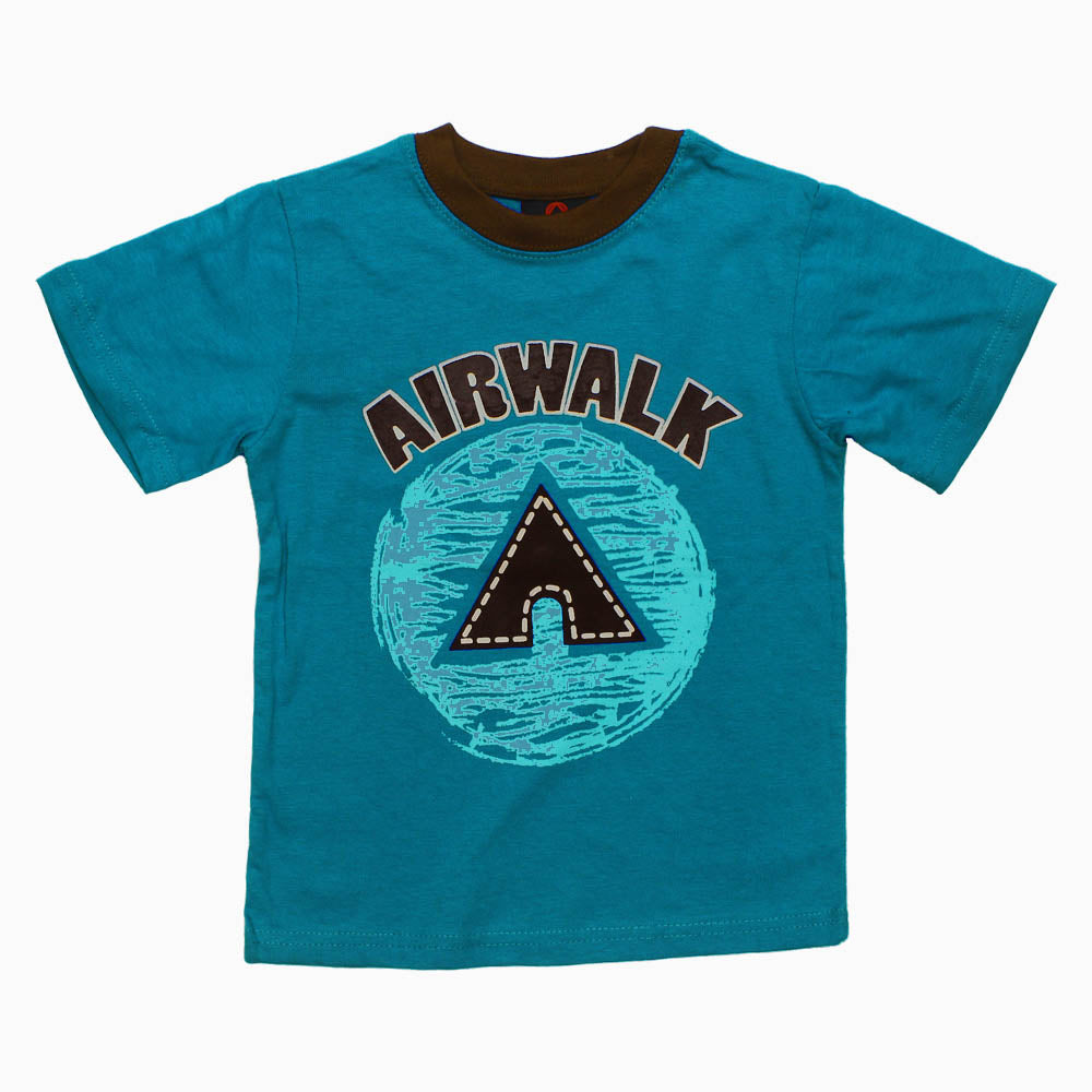 Air Walk Boys Blue Cotton Tshirt Set