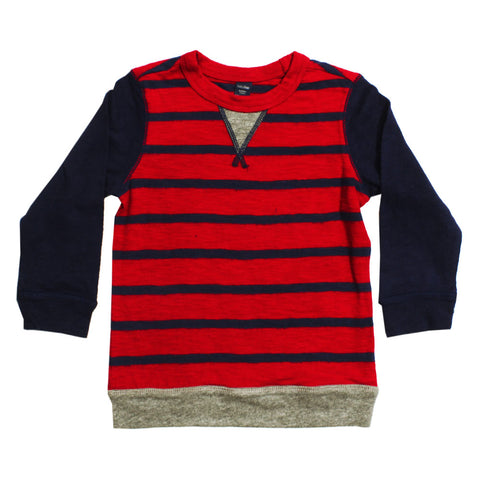 BABY GAP Red and Blue Stripes Premium Thermal Cotton Sweat Shirt